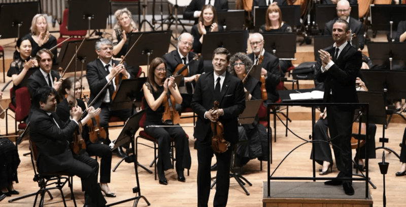 Alexander Shelley and James Ehnes with the NAC Orchestra in Paris 2019