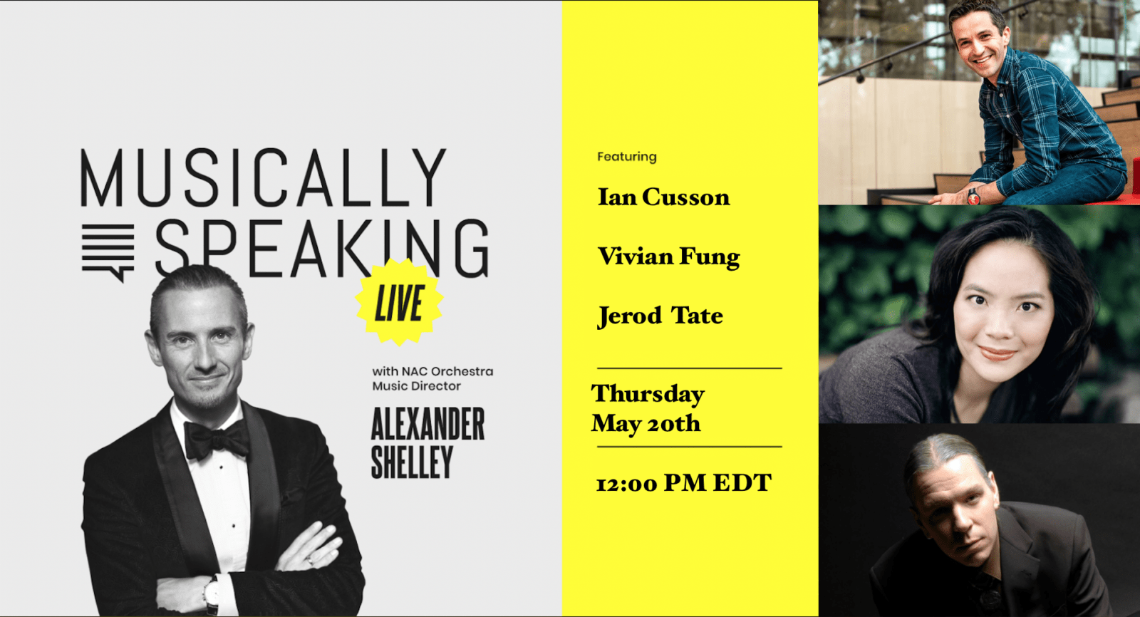 Alexander Shelley interviews three leading contemporary composers in this episode of Musically Speaking