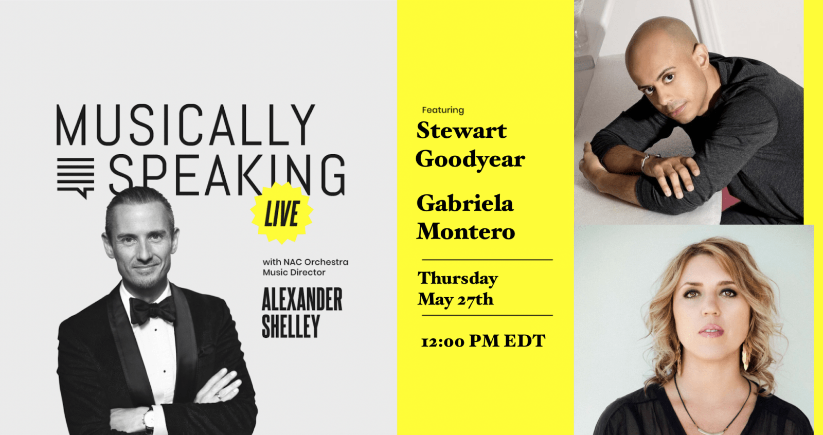 Musically Speaking: Join Alexander Shelley as he chats with Gabriela Montero and Stewart Goodyear about how a composer-performer uses an adaptive mindset in their work.